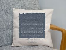 Jason Mraz 'I'm Yours' Personalised Song Lyrics Cushion Anniversary Gift - Wife
