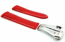 Red Rubber/Silicone Strap/Bad for Omega SeaMaster/SpeedMaster 20/22mm + Clasp