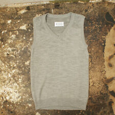 NEW Maison Martin Margiela Grey V-Neck Tank Top GENUINE RRP: £200 BNWT
