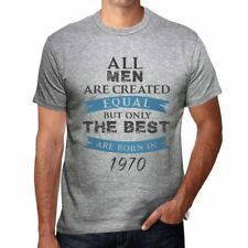 1970, Only the Best are Born in 1970 Hombre Camiseta Gris Regalo 00512