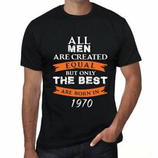 1970, Only the Best are Born in 1970 Hombre Camiseta Negro Regalo 00509