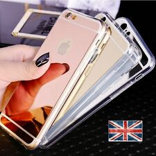 Ultra Thin Mirror Soft TPU Silicone Case Cover For Apple iPhone 5/6/7/8/x Plus