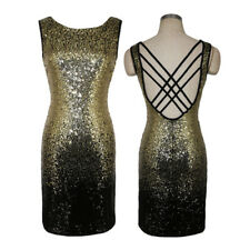 Sexy Women Sleeveless backless bodycon Sequins Party Club Cocktail evening Dress