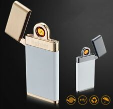 Custom USB Rechargeable Lighter Windproof Double Arc Cigarette Lighter Flameless