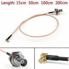 Cable BNC Hembra Jack To MCX Macho Enchufe Recto ángulo Jumper RG316 Pigtail BS6