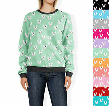 Bunny Bow Womens Sweatshirt Sweater