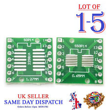 PCB SOP14 SO14 SOIC14 TSSOP14 MSOP14 to DIP14 Converter Board SMD Adapter IC