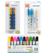 Official Despicable Me Minions Chunky Markers, Jumbo Crayons, Gel Pens, Pencils