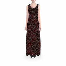 Blood Red Lace Flared Maxi Dress Sizes XS - 5XL