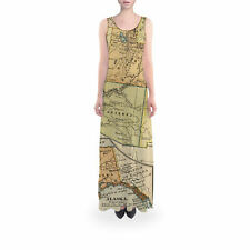 Vintage South West USA Map Flared Maxi Dress Sizes XS - 5XL
