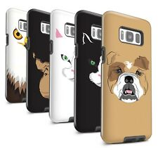STUFF4 Matte Tough Phone Case for Samsung Galaxy S8 Plus/G955 /Animal Faces