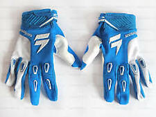 SHIFT FACTION MOTOCROSS GLOVES BLUE AND WHITE  BMX MTB ATV SIZES S  L XL XXL