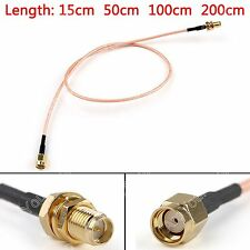 Cable RP.SMA Macho Jack To Hembra Enchufe Mamparo Crimp RG316 Pigtail BS6.