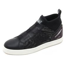 B5934 sneaker donna HOGAN REBEL R182 scarpa nero shoe woman