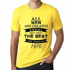 1970 Only the Best are Born in 1970 Hombre Camiseta Amarillo Regalo 00513