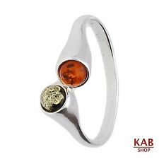 AMBRA BALTICA GEMMA & argento sterling 925 anello. KAB -R13