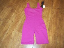 MARIKA  Ladies Dance UNITARD Sleeveless COTTON  Leotard LEG CERISE 1948 MEDIUM