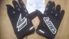 SHIFT FACTION   MOTOCROSS GLOVES WHITE AND BLACK BMX MTB ATV OFF ROAD LARGE