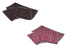 Handmade Table Runner Place Mats Set Cloth Quilted Indian Print Table Set Decor