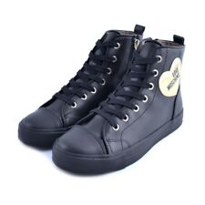 Scarpe shoes sneakers Love Moschino donna woman nere oro black pelle leather