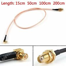 RG316 Cable SMA Hembra Jack To MCX Macho Enchufe Recto ángulo Pigtail BS6.