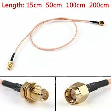 RG316 Cable SMA Macho Enchufe To SMA Hembra Jack Jumper Pigtail FPV BS6.