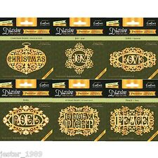 NEW Die'sire - CHRISTMAS ONLY WORDS PRESTIGE- Diesire - CRAFTERS COMPANION