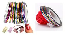 30 ROULEAUX STRIPING DECORATION ONGLE FIL STICKER NAIL ART AUTOCOLLANT ONG026