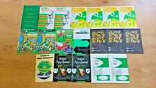 Ireland v Australia  New Zealand  South Africa Rugby Programmes 1960 - 1998