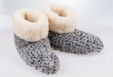 Women`s/Ladie`s 100% natural sheep's wool slippers boots UK 3.5,4,5,6,6.5,7  G&W
