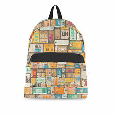 Luggage Tags Retro Backpack - All Over Print