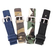 Nylon Fabric Canvas Wrist Watch Band Sport Watch Strap Belt Buckle 18/20/22/24mm