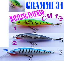 esca artificiale no rapala pesca spinning minnow grammi 40 mare lago floating