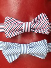 Halloween Dog Collar Bow Ties -  RED WHITE and BLUE or just BLUE and WHITE