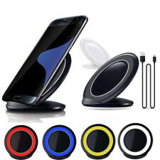 3-Coils Qi Wireless Charger Charging Stand Dock for Samsung Galaxy Note 7 S7