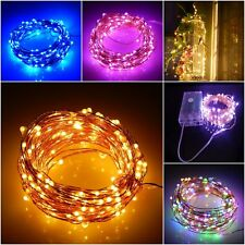 Fairy Strip Lights 20/50/100 LED Battery Wire String Wedding Outdoor Decorations