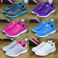 Fashion Ladies Mesh Sneakers Lace Up Flat Running Sports Trainers Shoes Size