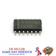 LM324 SOIC14 Quad Operational Amplifier IC Chip 4 Channels Texas Instruments