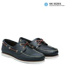 Timberland Men's Classic 2 Eye Boat Shoes - Navy Smooth
