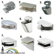 Hafele Shelf Support Polished Chrome Brackets Clamps For Glass & Wooden Shelves