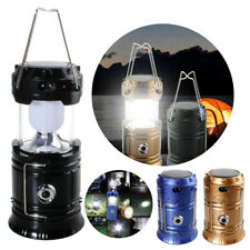 LED Solar Power Camping Lantern USB Rechargeable Ourdoor Tent Hanging Light Lamp