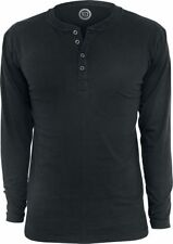 RED by EMP Basic Henley Manica lunga nero