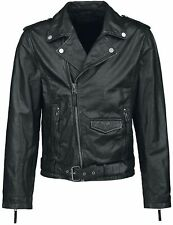 Black Premium by EMP Skull Leather Jacket Giacca pelle nero