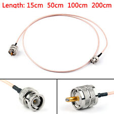RG316 Cable BNC Macho Enchufe To PL259 UHF Macho Crimp Jumper Pigtail BS6.