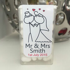 Personalised Tic Tac Wedding Favours Bride & Groom Sweets or Wrappers Only