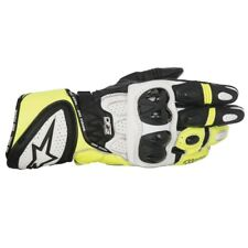 Alpinestars GP Plus Mens Motorcycle Sport Racing Black White Fluo Leather Gloves