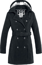 Brandit Girls Coat Long Cappotto donna nero