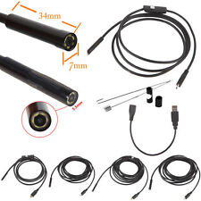 2/5/7/10/15m 6LED USB Waterproof Endoscope Borescope Snake Inspection Camera To