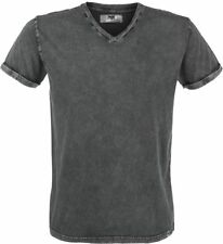 Black Premium by EMP Vintage V-Neck T-Shirt grigio