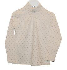 Girls Sfera Long Sleeve T-Shirt Top Glitter Heart Print Ivory White Age 2 to 15